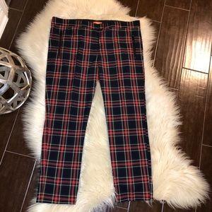 Joe Fresh cropped plaid pants size 12